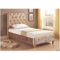 04 GI- New York Low End Bed available in Mink and Grey sizes 3ft - 4ft6 - 5ft