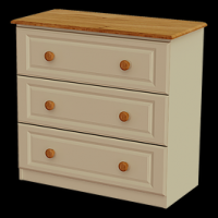 07    Chest 3Deep Drawer Chest H80cm W83cm D40cm