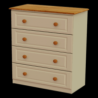 09   Chest 4 Deep Drawer H103cm W83cm D40cm