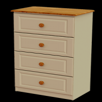 10    Midi 4Drawer Chest H103cm W67cm D40cm