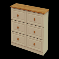 11    Chest 6Drawer Dressing Chest H80cm W130cm D40cm