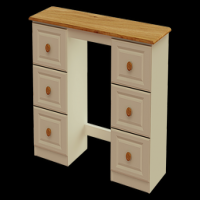 13    Double Dressing Table H80cm W130cm D40cm