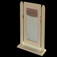 14    Single Square Mirror H47cm W51cm D18cm