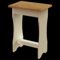 19  Bedroom Stool  H45cm W45cm D30cm