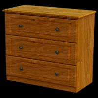 08   Chest 3Deep Drawer H80cm W83cm D40cm