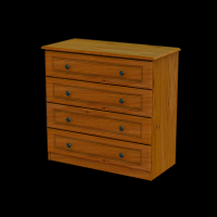 09   Chest 4Drawer  H80cm W83cm D40cm
