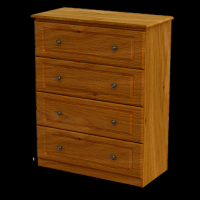 10   Chest 4Deep Drawer H103cm W83cm D40cm