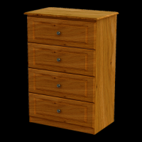 11    Midi Chest 4Drawer H104cm W67cm D40cm
