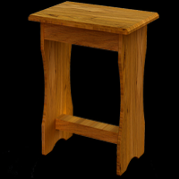 22    Bedroom Stool H45cm W45cm D30cm