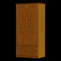 27     Wardrobe 2Door 2Drawer H188cm W80cm D53cm