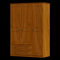 29   Wardrobe 3Door 2Drawer H188cm W120cm D53cm