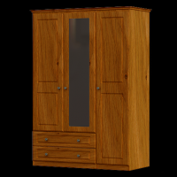 30   Wardrobe  3Door 2Drawer H188cm W120cm D53cm