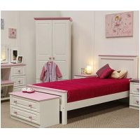 05-TR- White Bedroom Set -pink or blue top-