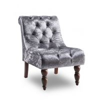 16 GI Ashley Velvet Chair - Silver
