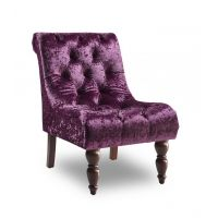 16 GI Ashley Velvet Chair- Purple