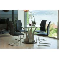 07- VL- Liberty Dining Table and 4 Irma Chairs Black
