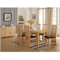 01- Oak 5ft Dining Set