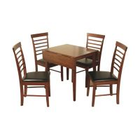 02- Square drop leaf dining set - Colour- dark