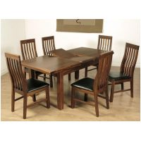 01- 5ft Ext Dining Set- Slat Back Chair