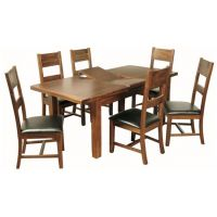02-5ft- Ext Dining Set -Ladderback Chairs