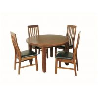 06- Round dining set - 4 Slat Back Chair