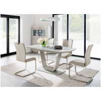 01a Dining Table Ext 1200mm to 1600mm with Taupe Chairs