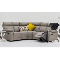 02 VL Positano  Corner Group in  Light Grey - Reclining