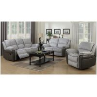 03 AN  Farnham Fusion Reclining Suite Grey and Grey
