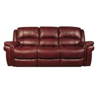 03a   Burgandy 3 Seater Recliner