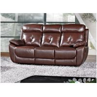 3 Seater Recliner or Fixed  in Chestnut Brown